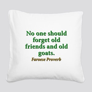 No One Should Forget Square Canvas Pillow