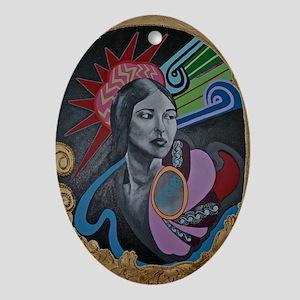 Te Ata Oval Ornament