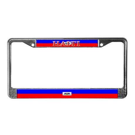 Haiti Blank Flag License Plate Frame