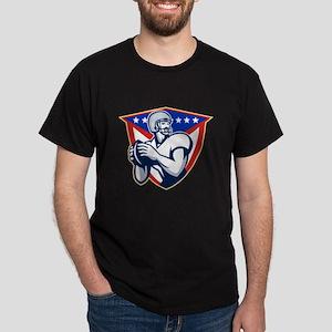 American Football Quarterback Throw Ball T-Shirt