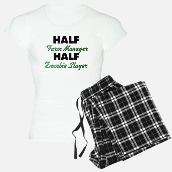 Half Farm Manager Half Zombie Slayer Pajamas
