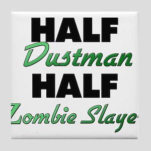 Half Dustman Half Zombie Slayer Tile Coaster