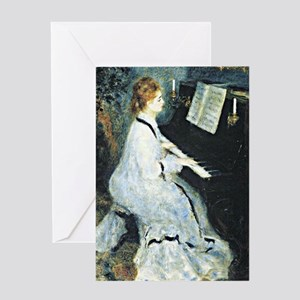 Renoir - Young Woman at the Piano Greeting Card