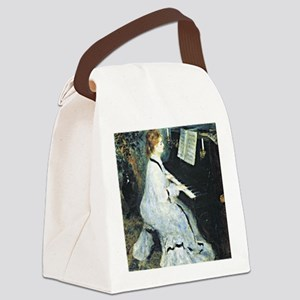 Renoir - Young Woman at the Piano Canvas Lunch Bag