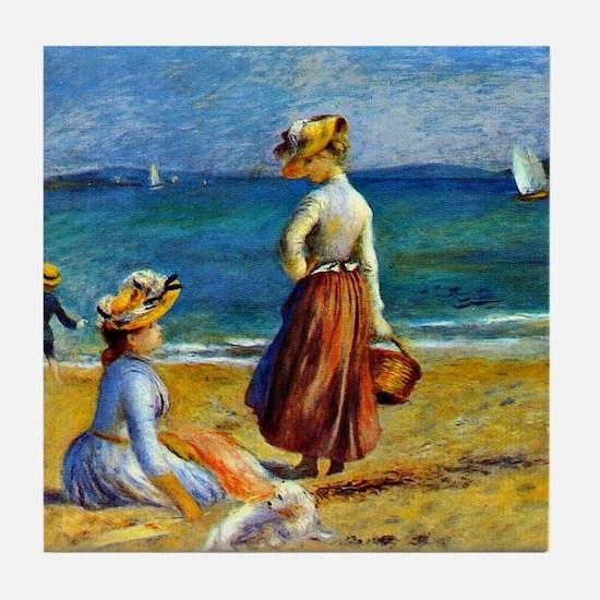 Renoir - Figures on the Beach Tile Coaster