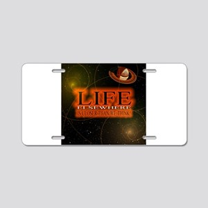 Life Elsewhere In The Universe Aluminum License Pl