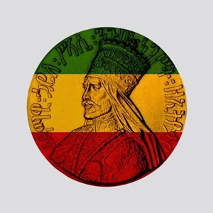 "Selassie I Jah rastafari 3.5"" Button"