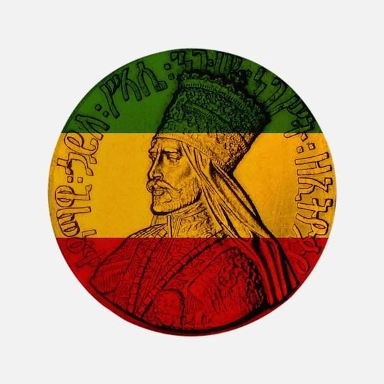 "Selassie I Jah rastafari 3.5"" Button"
