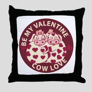 Cow Love Throw Pillow