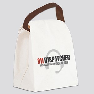 911 Dispatcher Canvas Lunch Bag