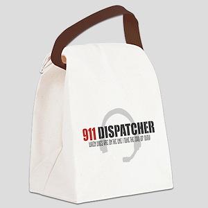911 Dispatcher Canvas Lunch Bag