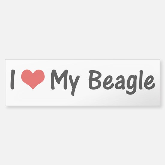I Heart My Beagle Sticker (Bumper)
