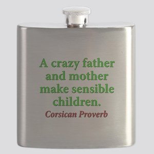 A Crazy Father And Mother Flask