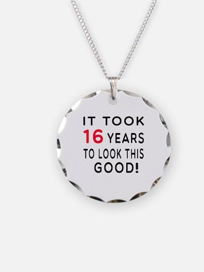 It Took 16 Birthday Designs Necklace