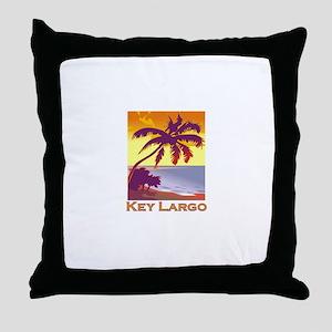 Key Largo, Florida Throw Pillow