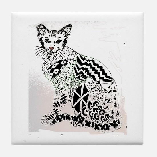 Feral Kitty Tile Coaster