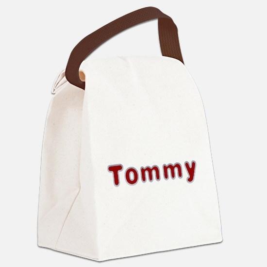 Tommy Santa Fur Canvas Lunch Bag