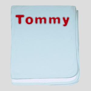 Tommy Santa Fur baby blanket