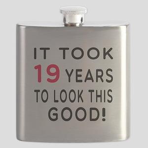 It Took 19 Birthday Designs Flask