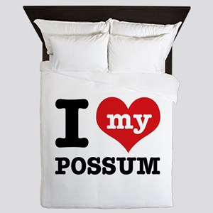 I love my possum Queen Duvet