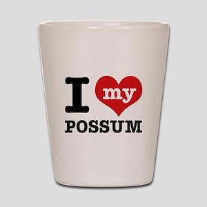 I love my possum Shot Glass