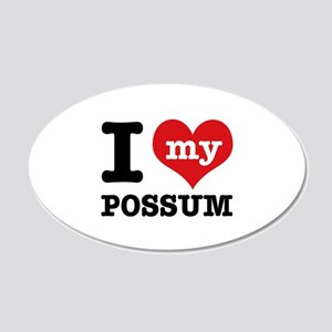 I love my possum 20x12 Oval Wall Decal