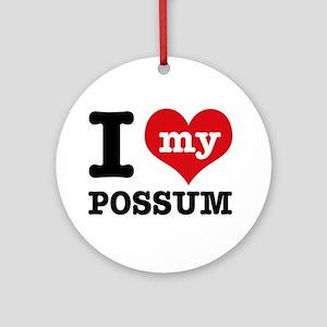 I love my possum Ornament (Round)