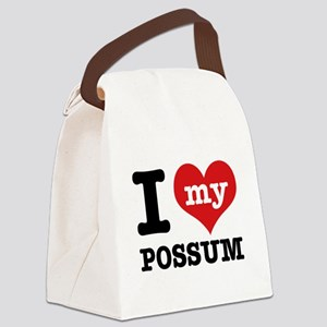 I love my possum Canvas Lunch Bag