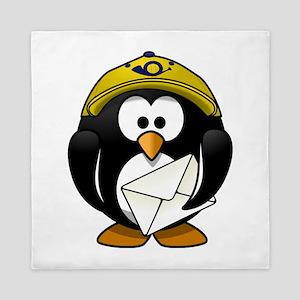 Mail Man Penguin Queen Duvet