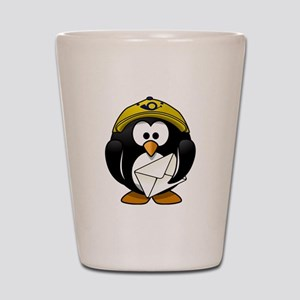 Mail Man Penguin Shot Glass
