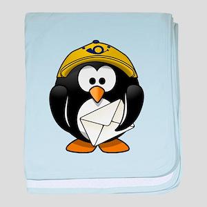 Mail Man Penguin baby blanket