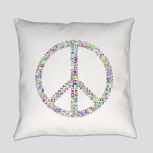 Words of Peace in Sign Everyday Pillow