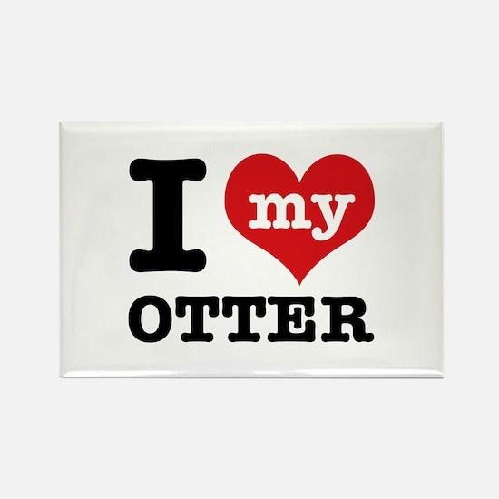 I love my OTTER Rectangle Magnet
