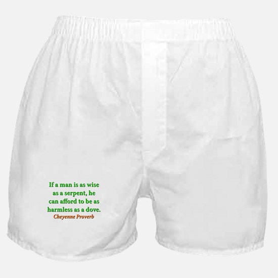 If A Man Is Wise As A Serpent Boxer Shorts