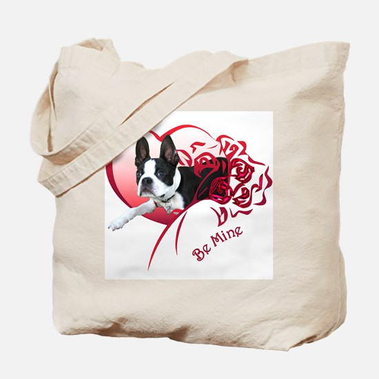 Valentine Boston Terrier Tote Bag