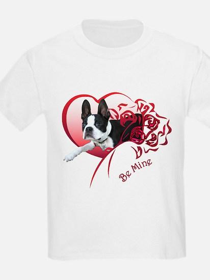 Valentine Boston Terrier Kids T-Shirt