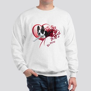 Valentine Boston Terrier Sweatshirt