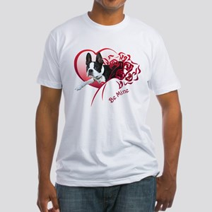 Valentine Boston Terrier Fitted T-Shirt