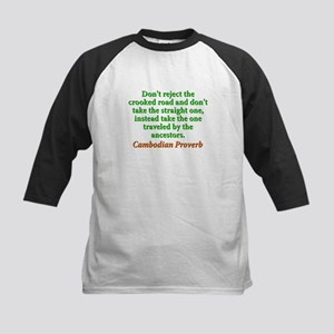 Dont Reject the Crooked Road Kids Baseball Tee