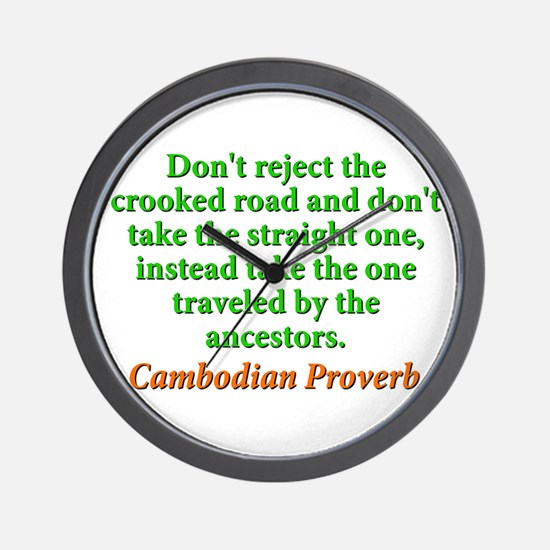 Dont Reject the Crooked Road Wall Clock