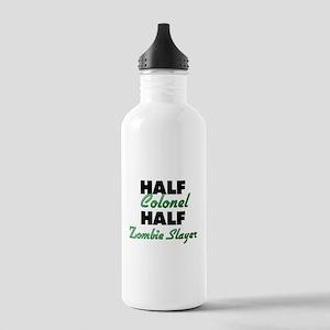 Half Colonel Half Zombie Slayer Water Bottle