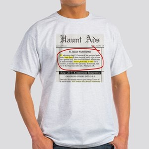 Haunt ads Ash Grey T-Shirt