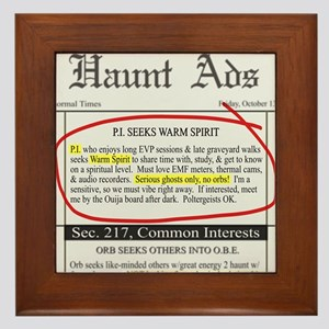 Haunt ads Framed Tile