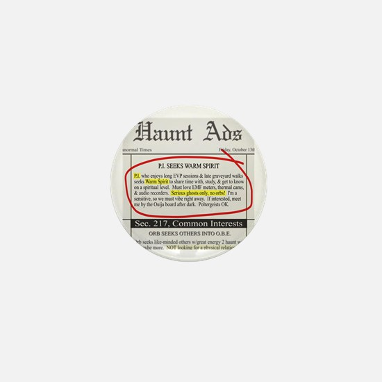 Haunt ads Mini Button