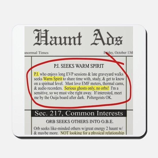 Haunt ads Mousepad