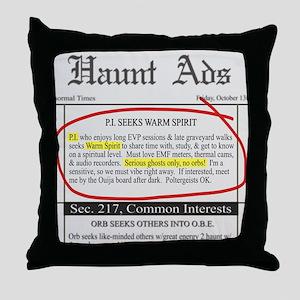 Haunt ads Throw Pillow