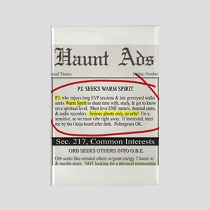Haunt ads Rectangle Magnet