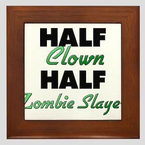 Half Clown Half Zombie Slayer Framed Tile