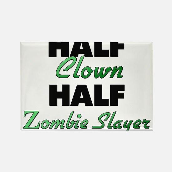 Half Clown Half Zombie Slayer Magnets
