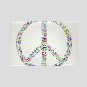 Words of Peace in Sign Magnets